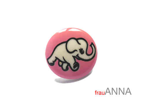 Kinderknopf Elefant 15mm rosa