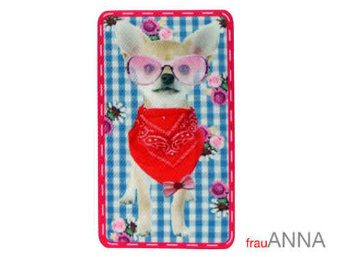 "Applikation ""Chihuahua mit Brille"""